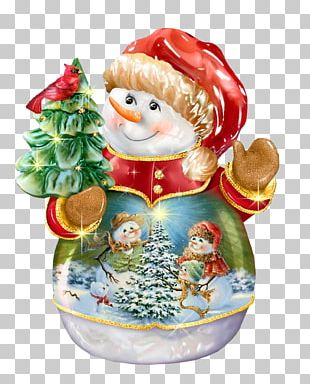Christmas Ornament Snowman PNG