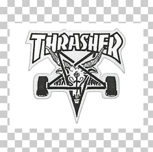 T-shirt Thrasher Iron-on Skateboard Embroidered Patch PNG