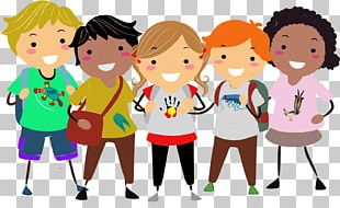 Child School Animation Learning PNG