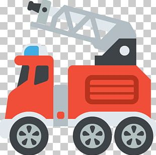 Car Emoji Truck Trolleybus Fire Engine PNG