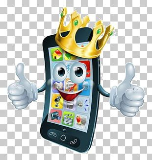Cartoon Expression Mobile Phone Crown PNG