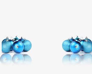 Blue Christmas Ball PNG
