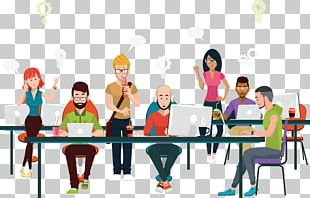 Office Coworking Business Illustration PNG
