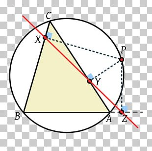 Triangle Point Simson Line Geometry PNG