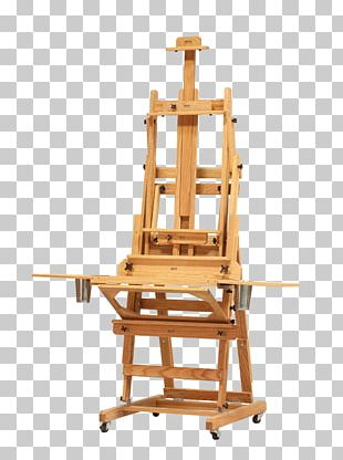 Easel Table Oil Painting Canvas PNG