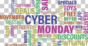 Cyber Monday Discounts And Allowances Black Friday Online Shopping Sales PNG