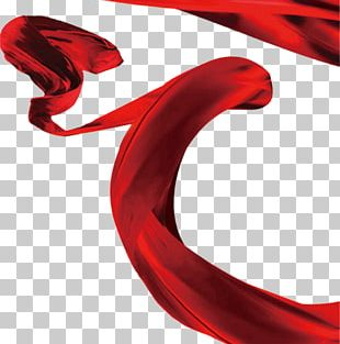 Red Ribbon Textile PNG
