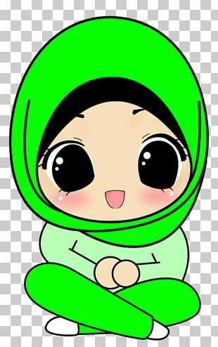 Hijab Cartoon Drawing Animation Islam PNG