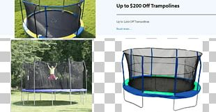 Trampoline Safety Net Enclosure Sporting Goods Trampolining Backboard PNG