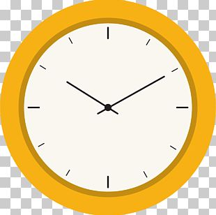 Clock Yellow Euclidean Computer File PNG