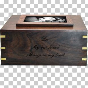 Dog Urn Wooden Box Commemorative Plaque PNG
