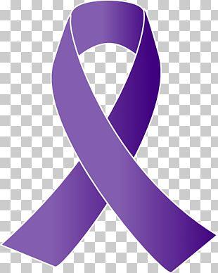 Cancer Awareness Ribbon Purple Ribbon PNG