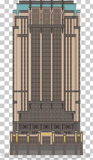 Parkview Square Architecture Facade Art Deco PNG