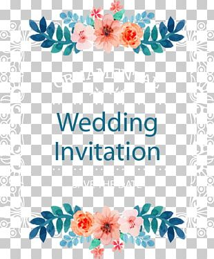 Wedding Invitation Frame Flower PNG