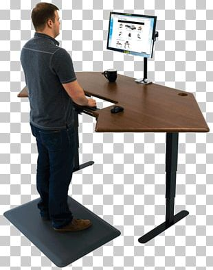 Standing Desk Office Table PNG