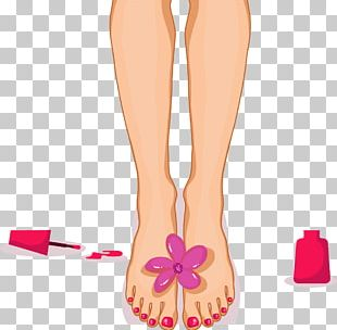 Pedicure Manicure Cartoon PNG
