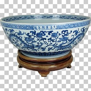 Blue And White Pottery Joseon White Porcelain Ceramic Bowl PNG