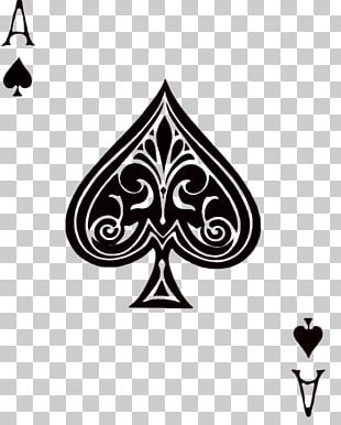 Texas Hold 'em Ace Of Spades Playing Card PNG