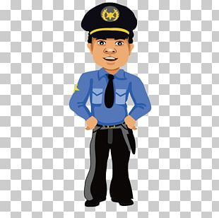 Cartoon Police Officer PNG