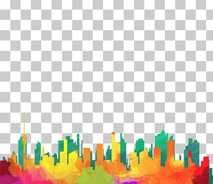 Drawing Silhouette City Illustration PNG