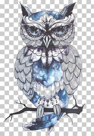 Little Owl Tattoo Flash Idea PNG