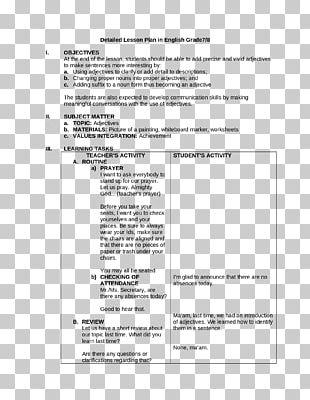 Lesson Plan National Secondary School Teacher Education PNG