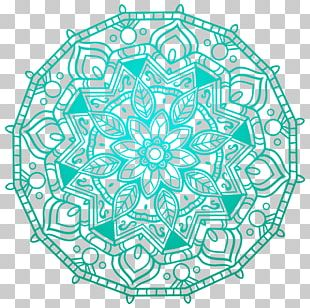 Mandala Desktop Wall Decal PNG