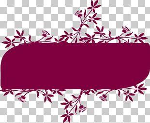 Floral Design Flower Banner PNG
