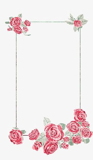 Creative Floral Border Elegant Atmosphere PNG