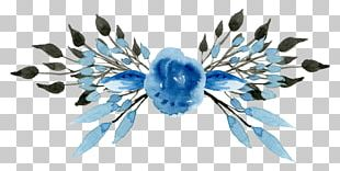 Watercolor: Flowers Watercolor Painting Blue PNG