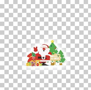 Santa Claus Holy Family Christmas Card Greeting & Note Cards PNG