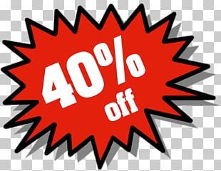 40% Discount Tag PNG