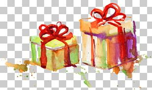 Watercolor Painting Gift PNG