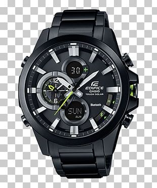 Casio EDIFICE ECB-500DC Casio EDIFICE TIME TRAVELLER EQB-501 Watch Clock PNG
