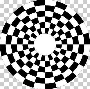 Checkerboard Circle Spiral PNG
