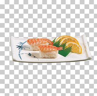 Sashimi California Roll Smoked Salmon Plate Tray PNG