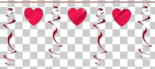 Valentine's Day Party Christmas Heart Gift PNG