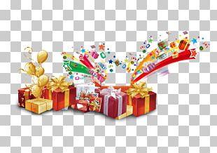 Gift Ribbon Balloon Box PNG