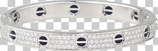 Love Bracelet Cartier Bangle Diamond PNG