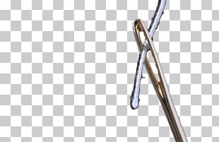 Sewing Needle Curve Line PNG