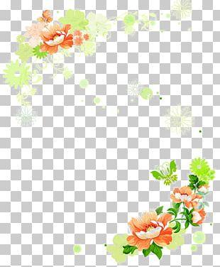 Border Template Flower Arranging PNG