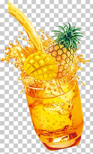 Pineapple Orange Juice Mai Tai PNG