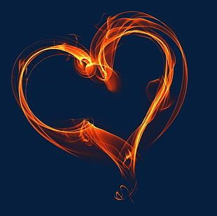 Heart Shaped Flame PNG