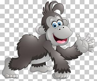 Cartoon Monkey Baboons Drawing PNG