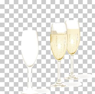 Champagne Glass Wine Glass New Years Eve PNG