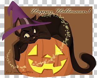 Cat Illustration Cartoon Halloween Font PNG