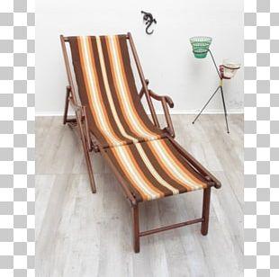 Chaise Longue Deckchair Sunlounger Wood PNG