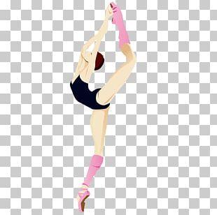 Gymnastics Girl Computer File PNG