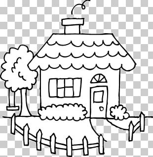 House Drawing Black And White PNG