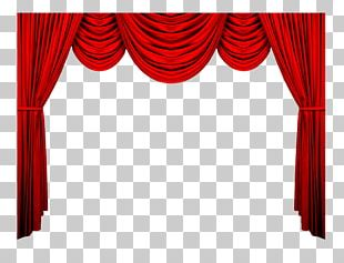 Theater Drapes And Stage Curtains Red Theatre Pattern PNG